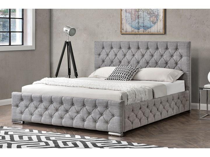 łóżko Tapicerowane Do Sypialni 140x200 1253g Jasnoszare