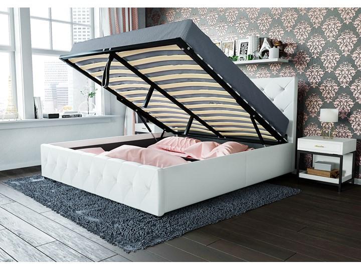 łóżko Tapicerowane Do Sypialni 160x200 Sfg007 Białe łóżka Do