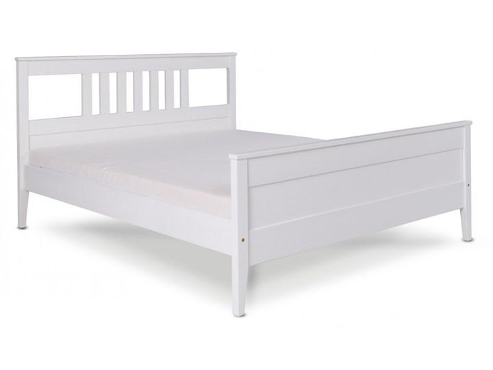 Łóżko Porto Drewniane Kolor Biały Łóżko drewniane Kategoria Łóżka do sypialni