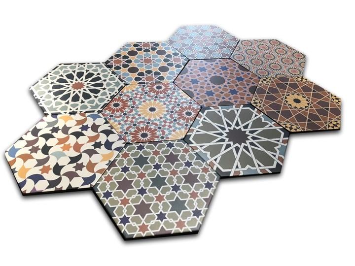 Andalusi 33x28,5 gres hexagon Heksagon Płytki ścienne Powierzchnia Matowa 28,5x33 cm Kolor Wielokolorowy