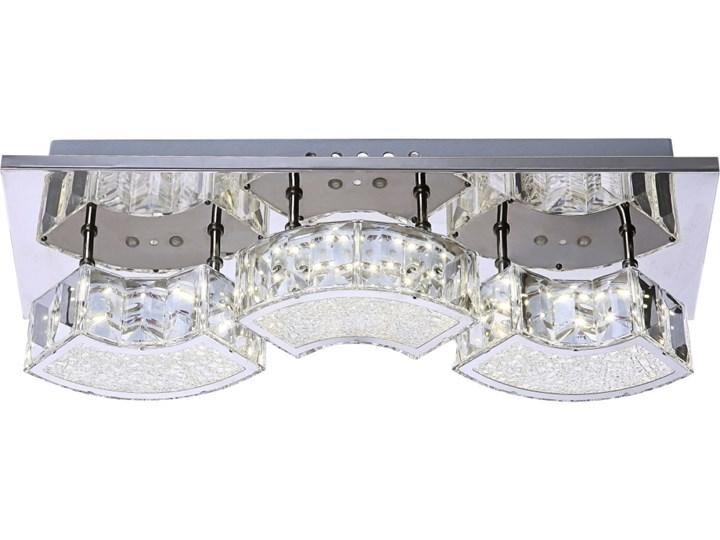 Lampa przysufitowa LED SILURUS Globo styl glamour kryształ chrom plastik akryl chrom srebrny przeźroczysty 49220-9W