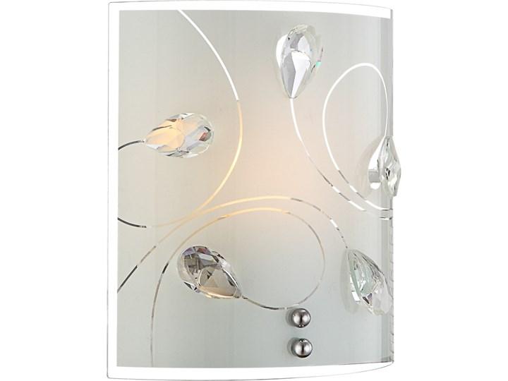 Lampa przyścienna ALIVIA I Globo styl glamour kryształ chrom kryształ k5 chrom srebrny biały 40414-1W