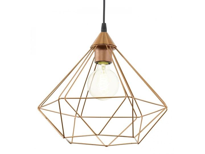 Lampa wisząca TARBES 1 Eglo styl industrialny, tworzywo sztuczne, stal nierdzewna Lampa druciana Metal Ilość źródeł światła 1 źródło