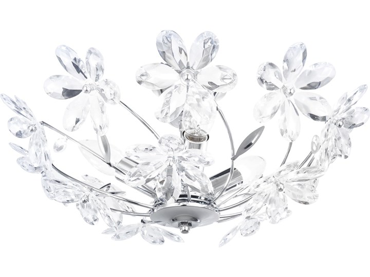 Lampa przysufitowa JULIANA III Globo styl secesyjny chrom akryl chrom srebrny przeźroczysty 5132