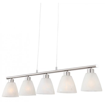 Lampa wisząca ILLIMANI V Globo styl nowoczesny metal szkło nikiel biały 68615-5