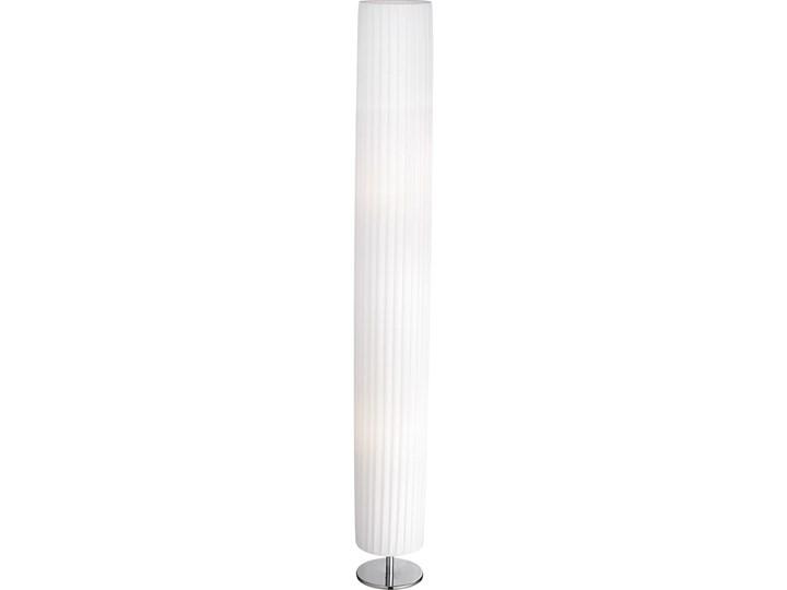 Lampa stojąca BAILEY II Globo metal chrom tkanina srebrny biały 24662R