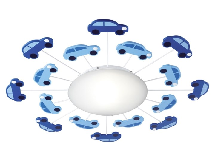 Lampa przysufitowa VIKI 1 Eglo stal szkło niebieski 92146