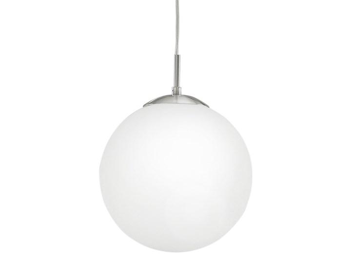 Lampa wisząca RONDO Eglo styl nowoczesny, stal nierdzewna, szkło mleczne Metal Styl Klasyczny