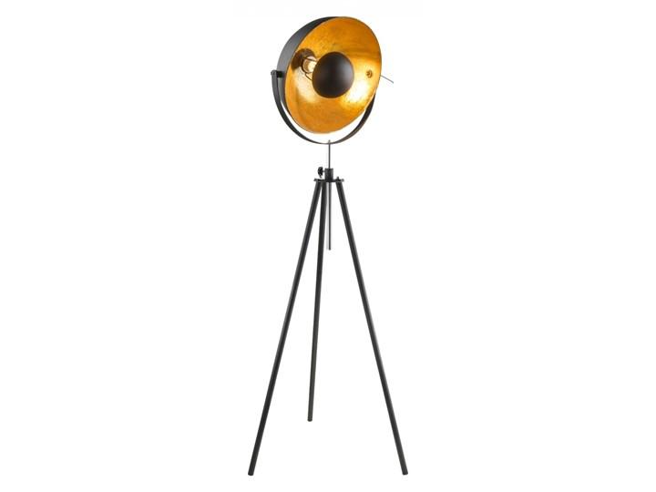 Lampa stojąca LENN Globo styl retro vintage metal czarny złoty 58305