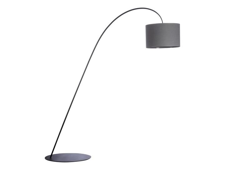 Lampa stojąca ALICE GRAY I Nowodvorski styl nowoczesny stal lakierowana abażur