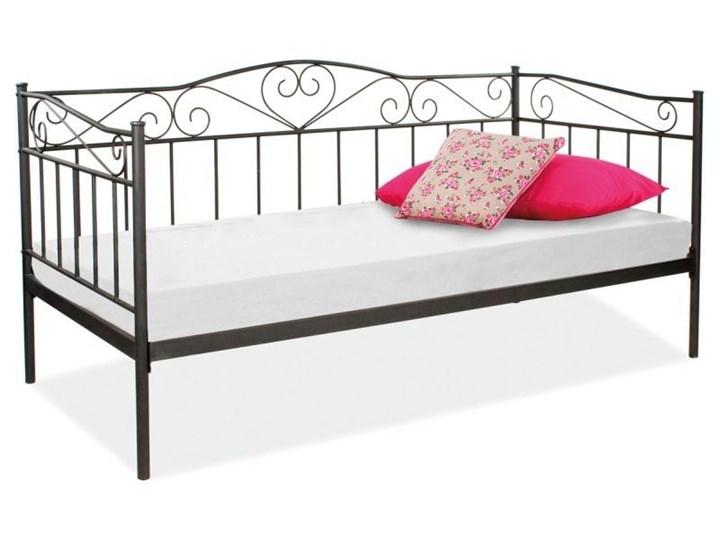 łóżko 90x200 Czarne Metal Nowoczesne łóżka Młodzieżowe