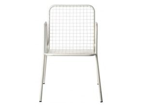 Metalowe krzesło ażurowe, białe