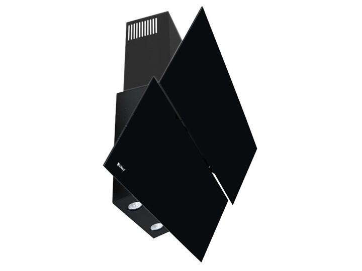Okap GLOBALO Mirida 90.3 Czarny/BL Szerokość 90 cm Okap przyścienny Sterowanie Elektroniczne