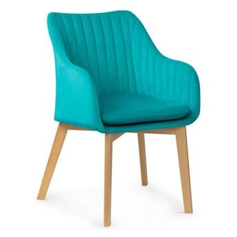 Krzesło HANN muszelka turkus /buk , dąb