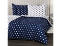 4Home pościel bawełniana Stars Navy blue, 140 x 200 cm, 70 x 90 cm, 160 x 200 cm, 70 x 80 cm Rozmiar poduszki 70x80 cm Bawełna Rozmiar(poprawny) 160x200 cm