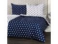 4Home pościel bawełniana Stars Navy blue, 220 x 200 cm, 2 szt. 70 x 90 cm, 220 x 200 cm, 2 szt. 70 x 90 cm Rozmiar poduszki 70x90 cm Bawełna Rozmiar(poprawny) 200x220 cm