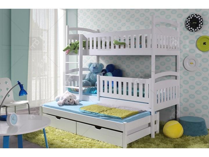 łóżko Piętrowe Ania 3 Osobowe 80 X 190 Biały Mega Wyprzedaż