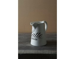 Dzbanek na mleko latte 9x13x17 cm biały