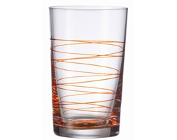 Szklanka 0,36 L pomarańczowa Leonardo Spirale L-049542 + Transport juz od 8,90 zł