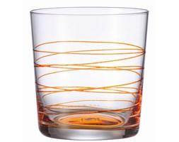 Szklanka 0,38 L pomarańczowa Leonardo Spirale L-049538 + Transport juz od 8,90 zł