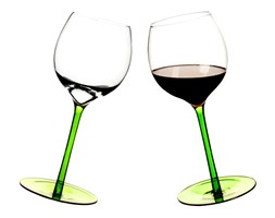 Zestaw 2 bujające się kieliszki do wina Sagaform Bar 2 szt. zielone SF-5016231 + Wysyłka już od 8,9 !!!