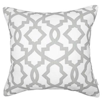 Poduszka z geometrycznym wzorem Geo Grey 45 x 45 cm