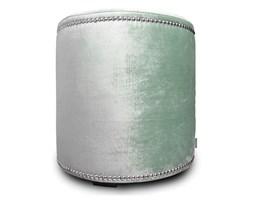 Welurowy miętowy puf Glamour miętowy welur 40 x 42 cm