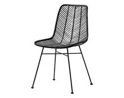 Rattanowe krzesło Lena Black czarny rattan