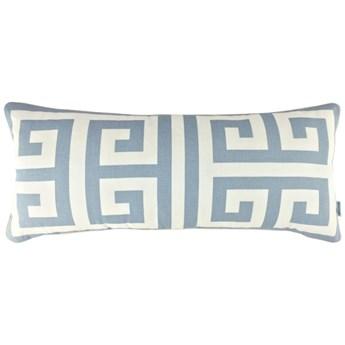 Poduszka ze wzorem greckiego klucza Key Cloudy 30 x 65 cm