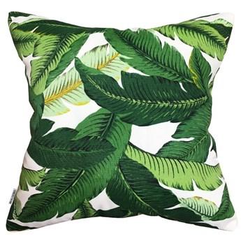 Poduszka dekoracyjna Bahama Green w zielone liście bananowca  45 x 45 cm