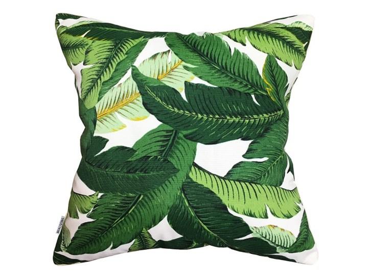 Poduszka dekoracyjna Bahama Green w zielone liście bananowca  45 x 45 cm Poliester 45x45 cm