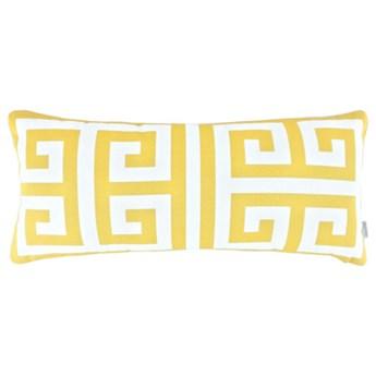 Poduszka ze wzorem greckiego klucza Key Sunny 30 x 65 cm