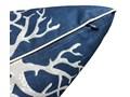 Poduszka dekoracyjna koralowiec Coral Navy 45 x 45 cm Bawełna 45x45 cm