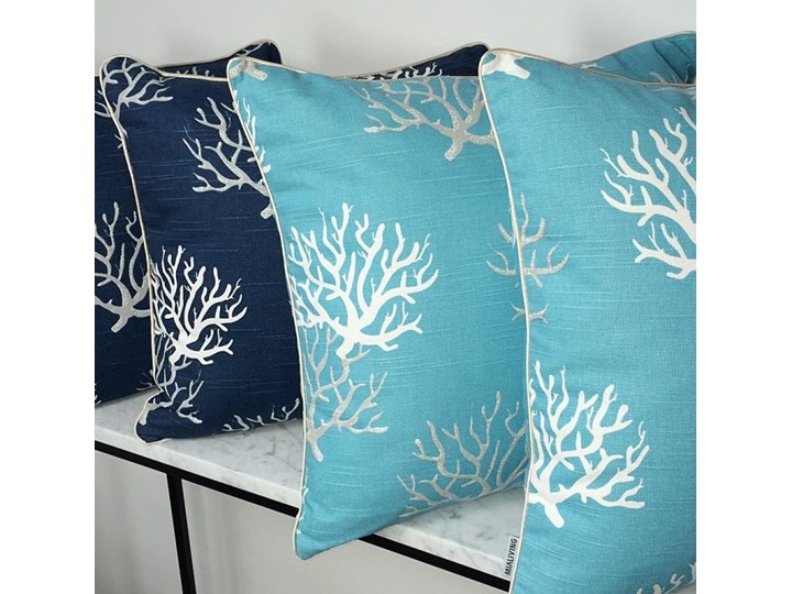 Poduszka dekoracyjna koralowiec Coral Blue 45 x 45 cm Pomieszczenie Salon Bawełna 45x45 cm Poszewka dekoracyjna Kwadratowe Kategoria Poduszki i poszewki dekoracyjne