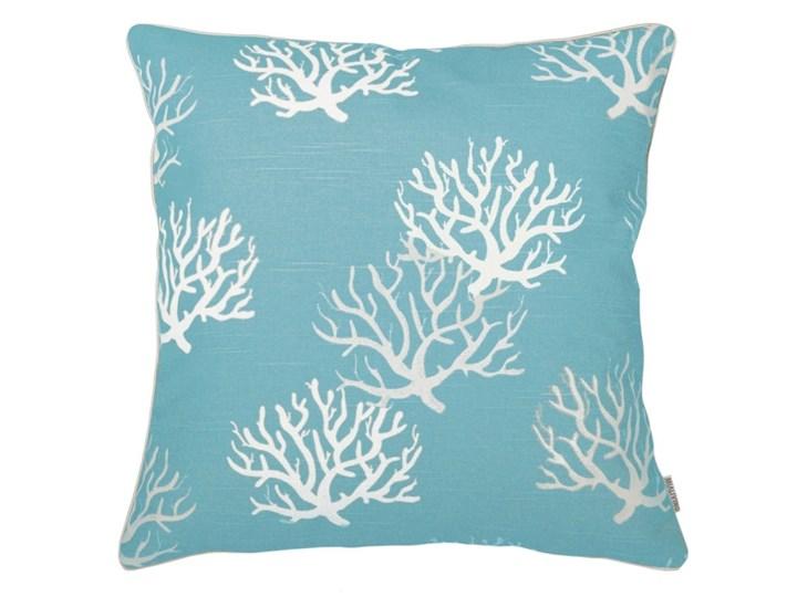 Poduszka dekoracyjna koralowiec Coral Blue 45 x 45 cm Bawełna 45x45 cm