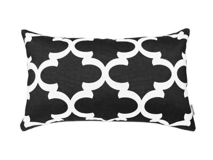 Poduszka dekoracyjna w marokańską koniczynę Marrakesh Black 30 x 50 cm Bawełna 30x50 cm