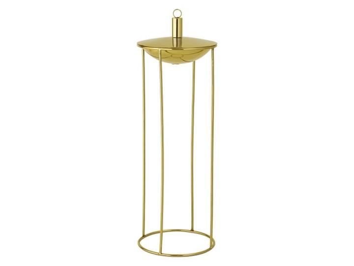 Lampa oliwna na złotej podstawie