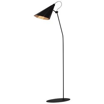 ZAMBIA lampa podłogowa 1 x 60W E27 lampa do czytania nowoczesna metalowa czarna złota skandynawska design ALDEX 811A/1