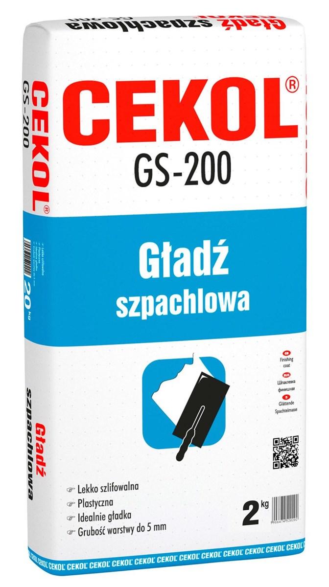 Cekol Gładź Szpachlowa Gs 200 2 Kg Gipsy I Gładzie Zdjęcia