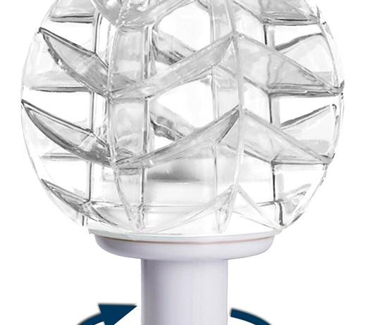 Obi Lampa Solarna Wirująca Kulka Led Lampy Ogrodowe Zdjęcia