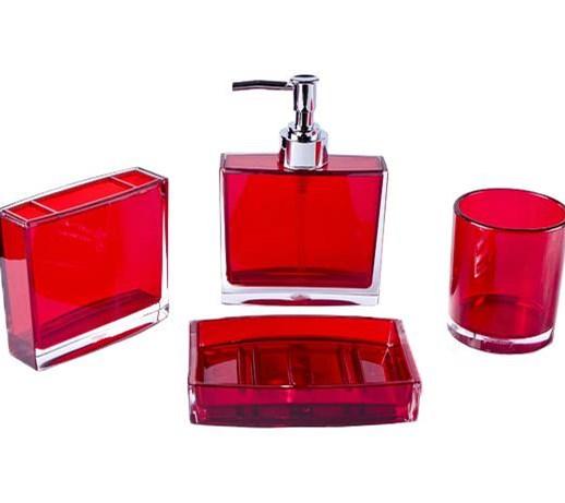 Zestaw łazienkowy Czerwony
