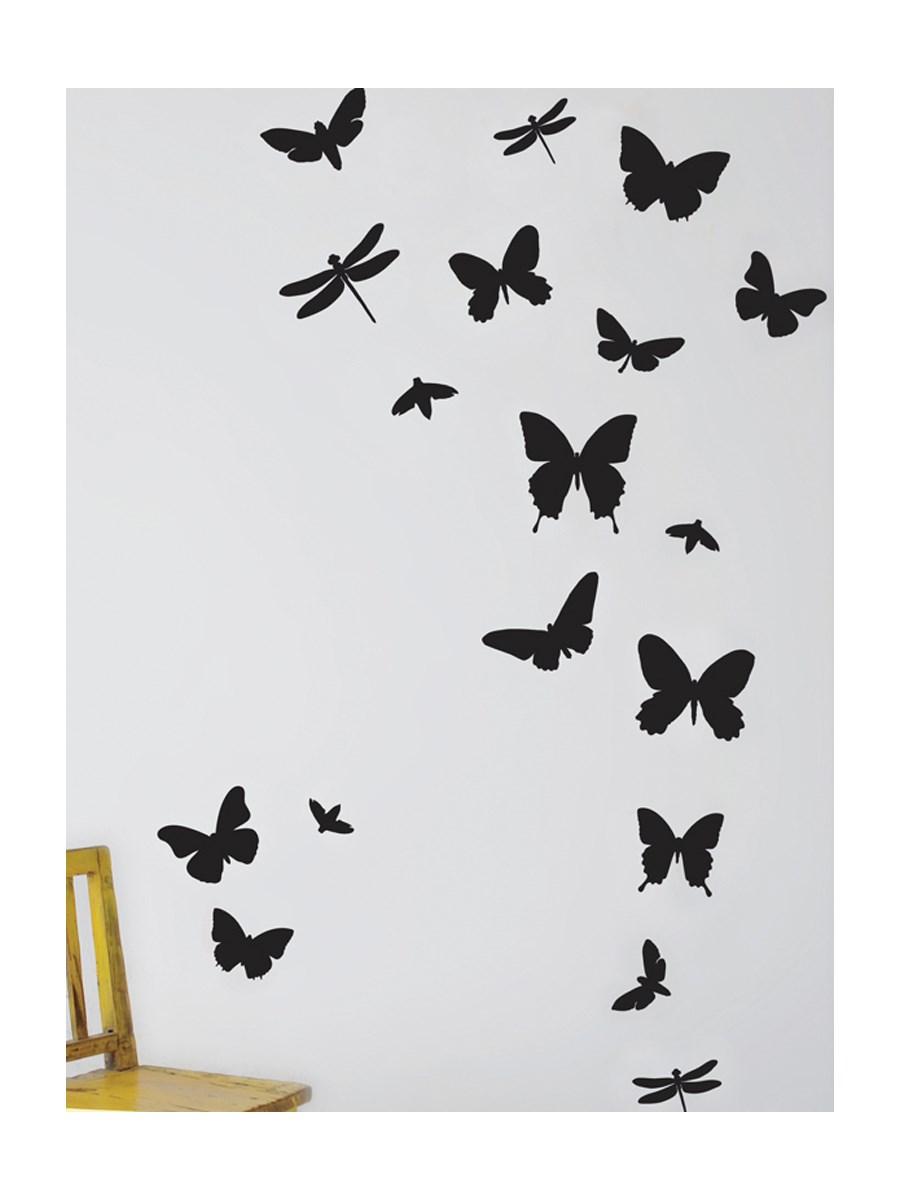 Naklejka Na ścianę Czarne Motyle