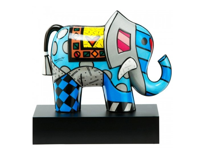 "Figurka ""Great India 2"" Romero Britto Goebel Ceramika Zwierzęta"