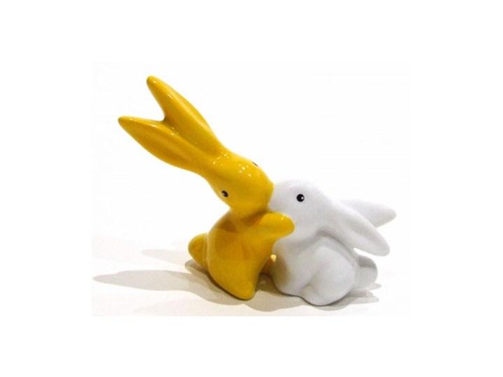 Figurka Bunnies in Love króliki biało-żółty Goebel Ceramika Zwierzęta