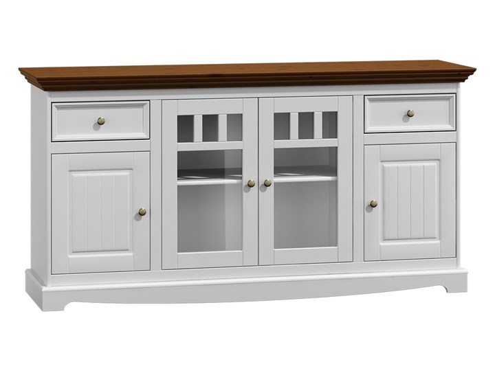 Komoda 4-drzwiowa Belluno Elegante biała/orzech