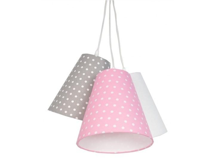 Lampa wisząca dzwoneczki w kropeczki Pinki Gray