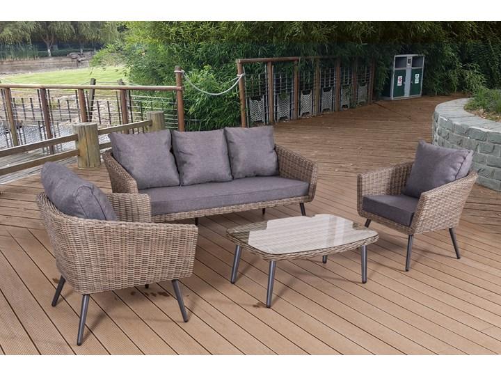 Nowoczesne meble z technorattanu ANTICO sofa 3 osobowa Aluminium Styl Nowoczesny Tworzywo sztuczne Zestawy wypoczynkowe Kategoria Zestawy mebli ogrodowych