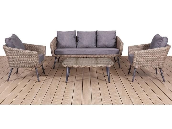 Nowoczesne meble z technorattanu ANTICO sofa 3 osobowa Aluminium Zestawy wypoczynkowe Tworzywo sztuczne Zawartość zestawu Fotele