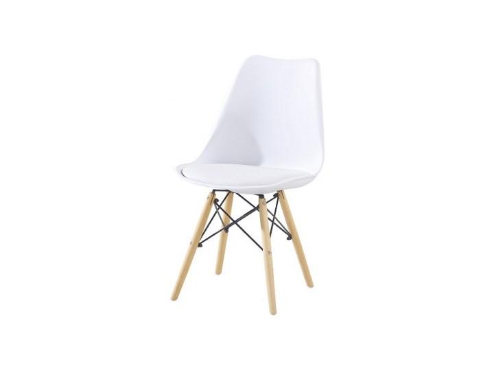 Topnotch KRZESŁO KRIS DSW Z PODUSZKĄ+KRZYŻAK BIAŁE - Krzesła kuchenne NC18