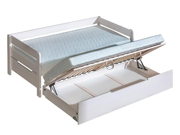 łóżko Podwójne Z Pojemnikiem 90 X 200 90 X 197 B1b3 Borys Dolmar Sosna Naturalna Sowy